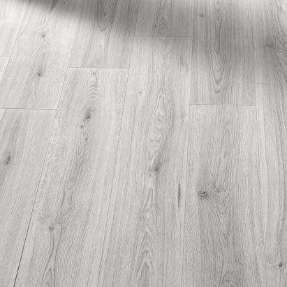 Elegant Farmhouse Light Grey Oak, Light Laminate Flooring