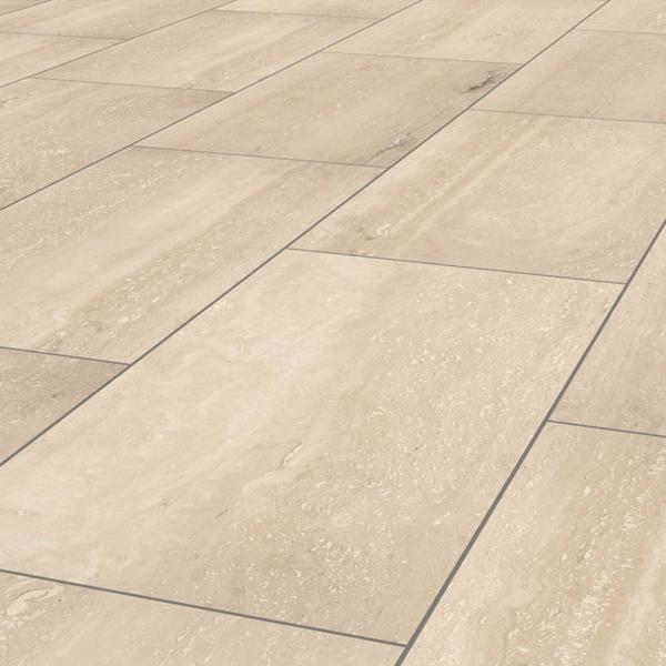 Royal Krono Original Stone Impression, Travertine Tile Effect Laminate Flooring