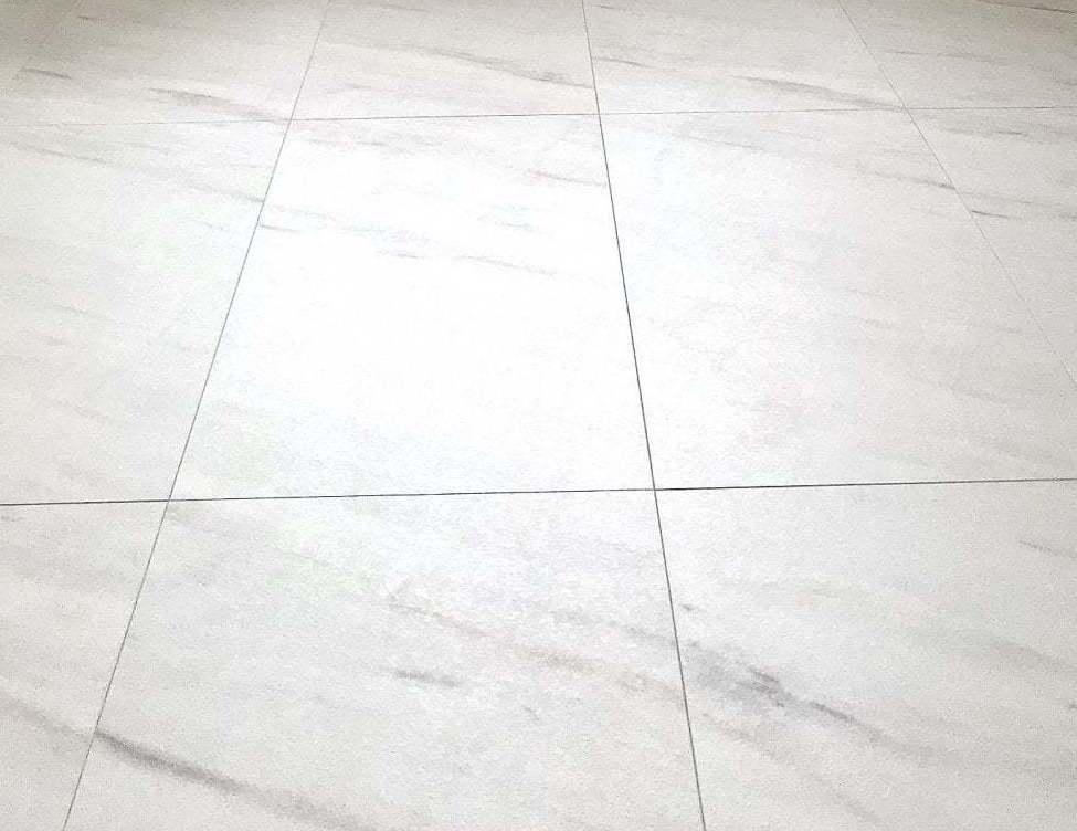 Classic Italian 8mm White Marble Tile, Waterproof Laminate Flooring Tile Effect
