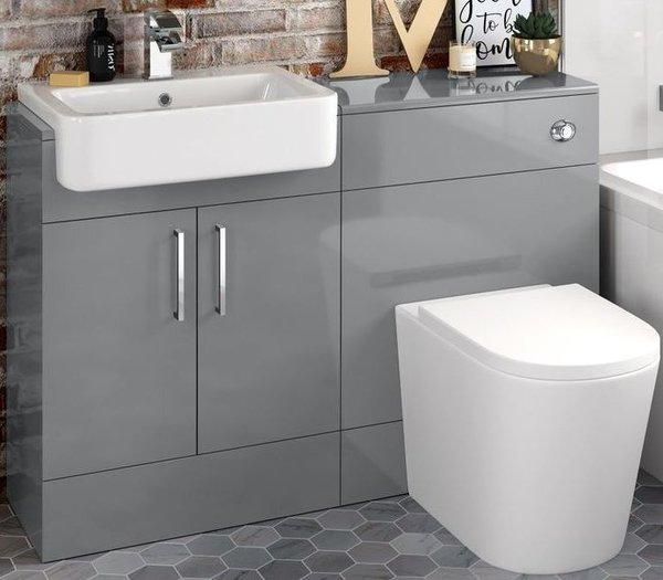 Luxurious Italian Stone Grey, Pebble Grey Bathroom Cabinets